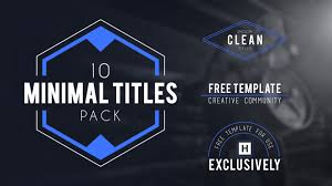 adobe after effects 10 minimalist titles free template youtube