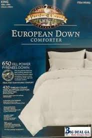 pacific coast light warmth down comforter king down comforter ebay
