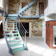 Helical Staircase Design Mono Stringer Curved Stairs Middle Spine Arc Stair Steel Wood