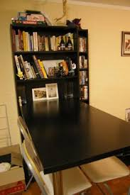 how to turn any bookcase into a fold down desk easiest if you use