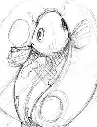 evil koi fish drawing koi min sketch by ronin kin u2013 aquarium images