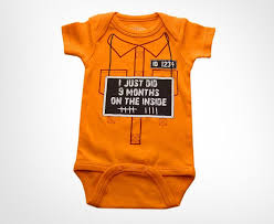 9 months on the inside baby onesie costume