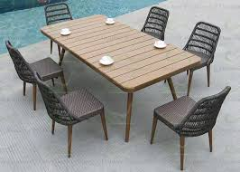 luxury outdoor dining sets patio furniture with poly lumber dining table