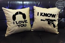 Star Wars Room Decor Etsy by Sale I Love You I Know Star Wars Pillow Cover Setlove