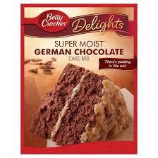 betty crocker supermoist german chocolate cake mix target