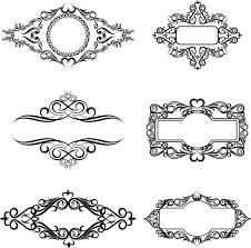 retro ornaments with decor frames vector vector frames borders