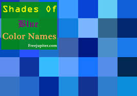 colour shades with names 30 shades of blue color names