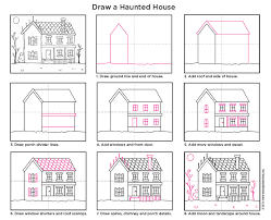 house porch drawing how to draw a haunted house art projects for kids