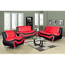 Black Leather Living Room Sets by Amazon Com Samuel Collection 4pc Living Room Group In 100 Black