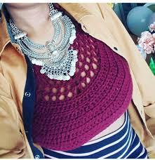 boho crochet crochet bralette burgundy crop top bralette haltertop crop top