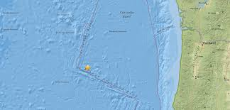 Oregon Earthquake Map by Shallow M5 8 Earthquake Registered 180 Km S Of Axial Seamount Off