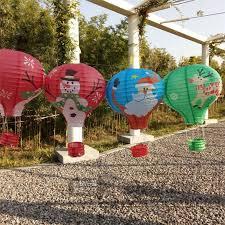 air balloon ceiling light 5pcs lot christmas paper lantern festival supplies air balloon