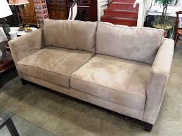 Leather Suede Sofa Suede Home Loccie Better Homes Gardens Ideas