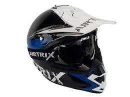 motocross helmet motocross helm sturzhelm airtrix mx star with goggles clear