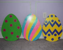 Outdoor Easter Yard Decorations by Easter Yard Art Wood Painted Easter Yard Decoration Easter