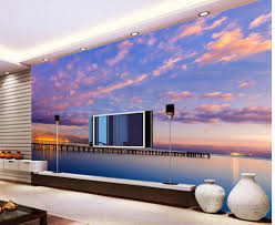 landscapes backgrounds picture more detailed picture about home home decoration 3d wall murals beautiful romantic purple sky pier maritime landscape background wall