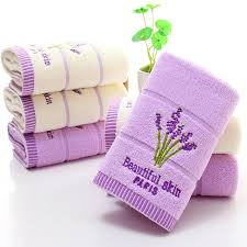 wedding gift towels new embroidered cotton lavender towel 100 cotton 34x74cm