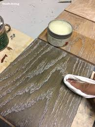 how to dye wood and use lime wax to finish oak highlight the grain