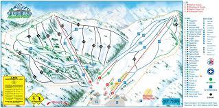 Double Map Trail Map Sasquatch Mountain Resort