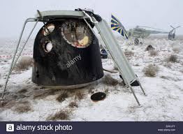 the soyuz tma 14m capsule carrying the iss expedition 42 crew is