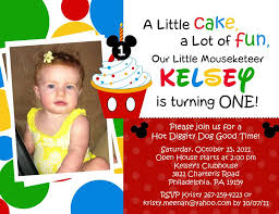 mickey mouse photo birthday invitations u2013 gangcraft net