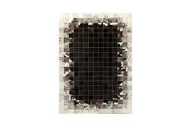 Patchwork Cowhide Rug K 1783 Sorrel Waves Mosaic Cowhide Rug Fur Home