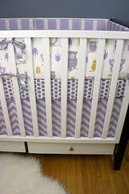 crib bedding baby bedding nursery set purple gray by modifiedtot