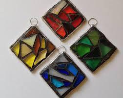 mosaic ornament etsy