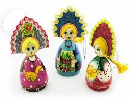 russian doll ornaments carved painted 4 1 4 at