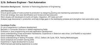 Qa Automation Engineer Resume Qa Infotech Required Qa Automation Engineer In Qa Infotech