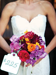 wedding flowers purple colorful bouquet of purple and orange cost flowers the