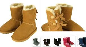 womens boots free shipping australia bailey bow boots winter cowhide leather bowknot