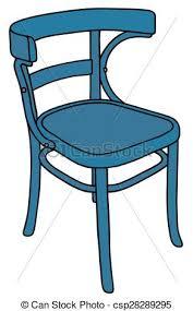 chaise bleue chaise bleue bleu classique bois chaise dessin vecteurs