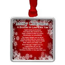 Brother In Law Poems Christmas Tree Decorations U0026 Ornaments