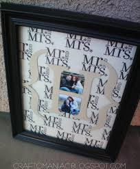wedding gift photo frame diy monogrammed wedding gift craft o maniac