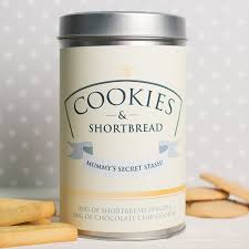 personalised tin with biscuits cookies shortbread