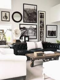 Black Leather Sofa Interior Design Room Inspiration Beautiful Black And White Spaces Black Leather