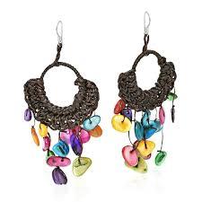 pearl chandelier handmade cotton of pearl chandelier dangle earrings