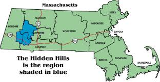 massachusetts on a map where are the of massachusetts includes