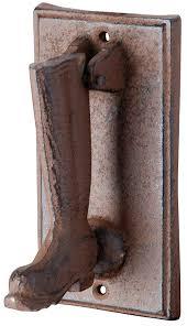 amazon com esschert design db54 cast iron boot door knocker