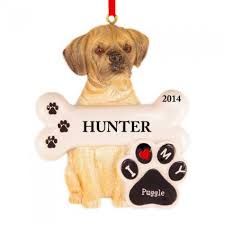 puggle personalized ornament and city