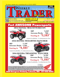 weekly trader february 4 2016 by weekly trader issuu