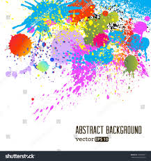 vector colorful paint drops ink splashes stock vector 136095851