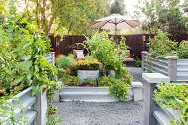 Galvanized Trough Planter by Wooden Garden Bed Edging Landscape Farmhouse With Wood Fence