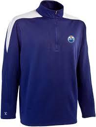 antigua men u0027s edmonton oilers royal succeed quarter zip jersey