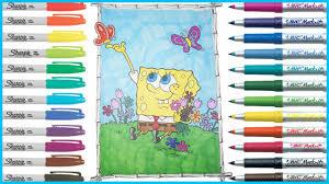 coloring book spongebob squarepants lets color youtube