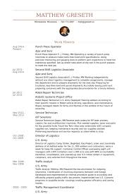 Sample Resume With Work Experience by Press Operator Resume Samples Visualcv Resume Samples Database