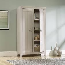 Sauder Homeplus Storage Cabinet Sauder Adept Cobblestone Storage Cabinet 418140 The Home Depot
