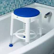 Bathroom Sitting Stools Amazon Com Drive Medical Bath Stool With Padded Rotating Seat