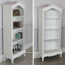 tall white bookcase with doors twin tall slant back bookcase headboard by prepac white image